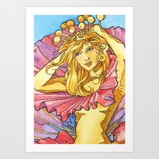 Hibiscus Queen Art Print