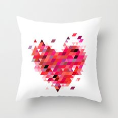 Heart1 Red Throw Pillow
