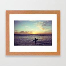 One Last Wave Framed Art Print