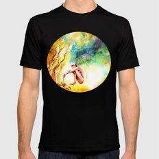 FISHING Black Mens Fitted Tee SMALL