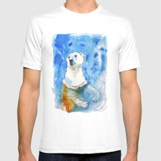Polar Bear Inside Water White SMALL Mens Fitted Tee