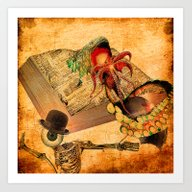 Monsieur Bone In The Boo… Art Print