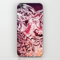 Fox with flowers iPhone & iPod Skin
