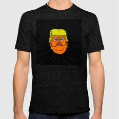 All Trump Knows is on the Internet Mens Fitted Tee Tri-Black SMALL