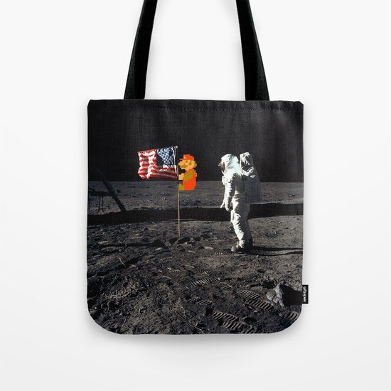 Super Mario on the Moon Tote Bag