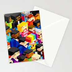 Pattern people Stationery Cards