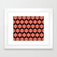 Vreugdehil Black & Red Framed Art Print