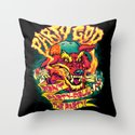 PARTY GOD (red) Throw Pillow