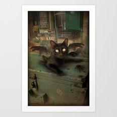 Kitty Bat Art Print