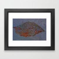 Autum Leaf Framed Art Print