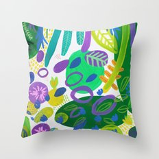 Between the branches. V Throw Pillow