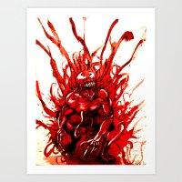 Carnage Watercolor Art Print