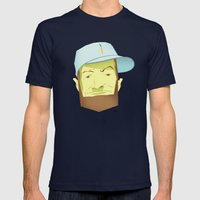 A. Blinkin Mens Fitted Tee Navy SMALL