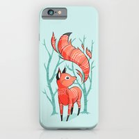iPhone & iPod Case featuring Winter Fox by Freeminds