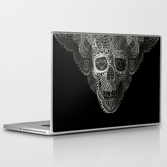 Lace Skull Laptop & iPad Skin