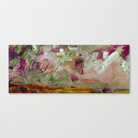 Abstract Purple Green Sky Canvas Print