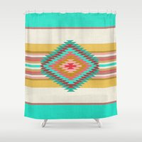 FIESTA (teal) Shower Curtain
