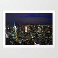 New York City at Night Art Print