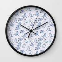 Grey Foxes Wall Clock