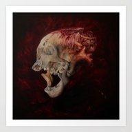 Art Print featuring HeartSkull by Kit King & Oda