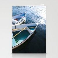 Winter Harbor Dory - Mai… Stationery Cards