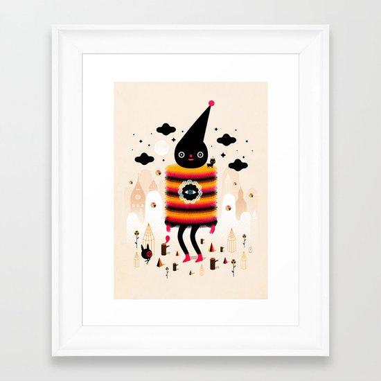 Mr. Wooly Framed Art Print