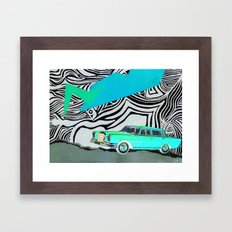 Drive my car Framed Art Print