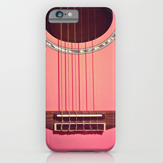 Pink Guitar iPhone & iPod Case