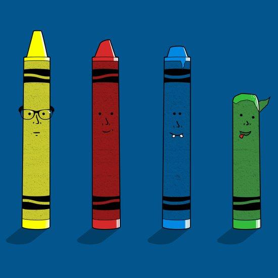 Not The Sharpest Crayon Art Print