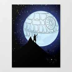That's no moon! Canvas Print