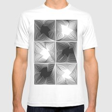 psych SMALL Mens Fitted Tee White