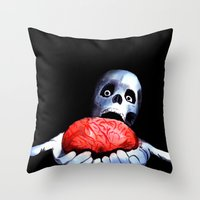 Brains! Live Brains! Throw Pillow