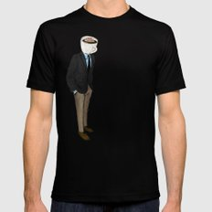 IT'S MORNING AND I THINK OF YOU SMALL Mens Fitted Tee Black