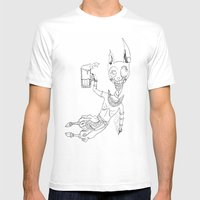 BEERS Mens Fitted Tee White SMALL
