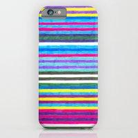 Yellow Stripes iPhone 6 Slim Case