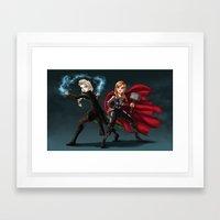 Thunder and Frost Framed Art Print