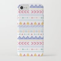 aztec iPhone & iPod Cases featuring Aztec by Joanne Hawker