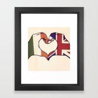 One Direction Inspired UK/Irish Love Heart Framed Art Print