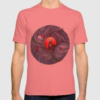 Evil Mens Fitted Tee Pomegranate SMALL