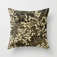 Tiny Fall Flowers Throw Pillow