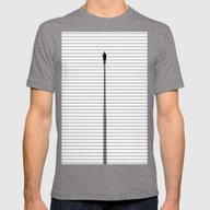 Up The Stair Mens Fitted Tee Tri-Grey SMALL