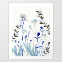 Art Print featuring Blue Garden by Diana Toledano