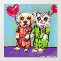 Tiny Pajama Party Canvas Print