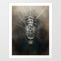 Godzilla - Land Art Print