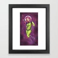 Retro Spacegirl Framed Art Print