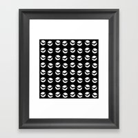 Moons & Bats Framed Art Print