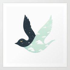Bipolar Bird Art Print