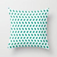 Rhombus Bomb In Emerald Throw Pillow