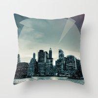 Manhattan Night Throw Pillow