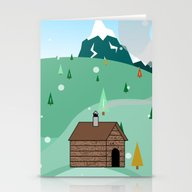 Mountain Christmas Stationery Cards